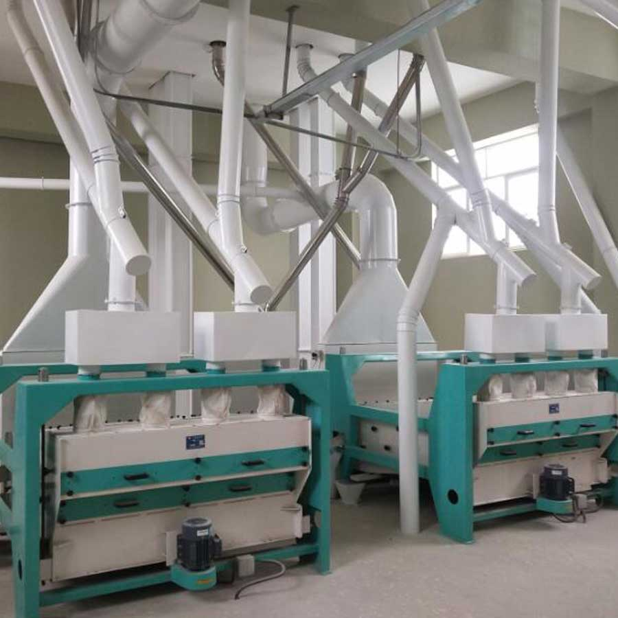100T Pre-cooked corn flake mill in South Africa